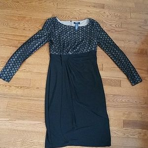 Flattering dress with faux wrap detail